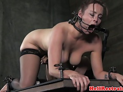 Female dom  gagged mature obedient