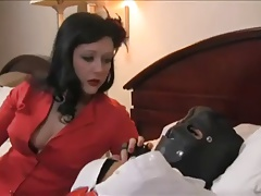 Dominatrix uses cord on and urged..